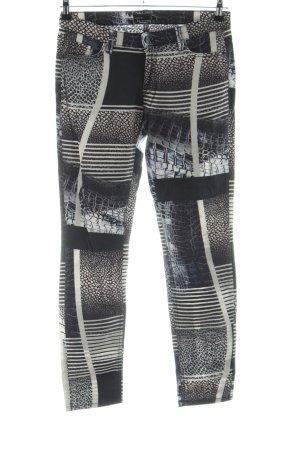 Deyk Slim Jeans abstraktes Muster Casual-Look