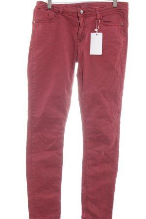 Deyk Jeans met rechte pijpen roodbruin casual uitstraling