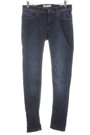 Deyk Stretch Jeans dunkelblau-rostrot Jeans-Optik