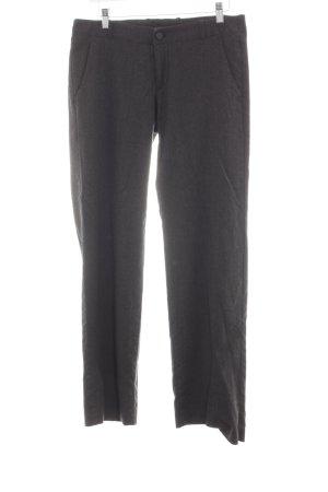 Deyk Wollen broek zwart zakelijke stijl