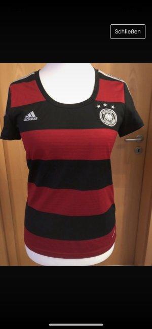 Adidas T-shirt nero-rosso