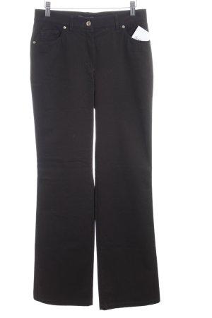 di Bari Straight-Leg Jeans dunkelbraun Casual-Look