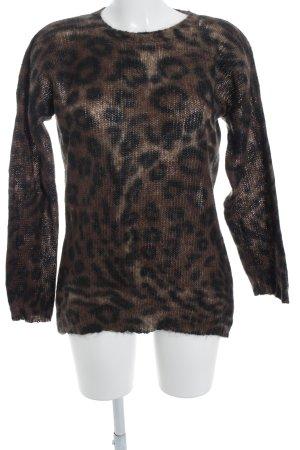 di Bari Pull en laine motif léopard style mode des rues
