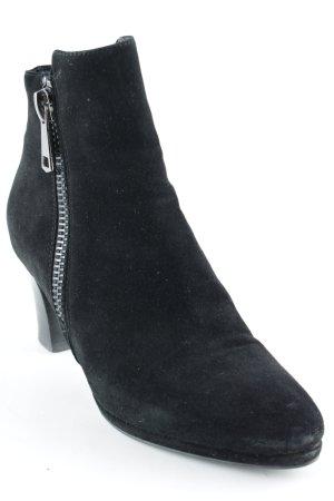 di Lauro Absatz Stiefel schwarz Elegant