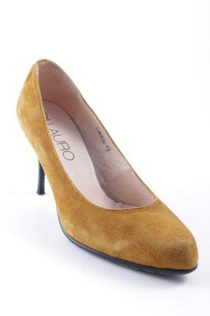 di Lauro High Heels camel-schwarz Street-Fashion-Look