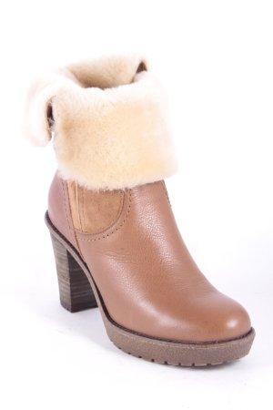 Di Lauro Reißverschluss-Stiefeletten braun-hellbeige Street-Fashion-Look