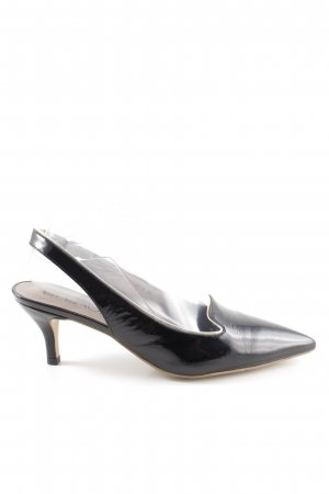 di Lauro Slingback pumps zwart zakelijke stijl