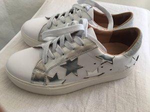 di Lauro Heel Sneakers white-silver-colored