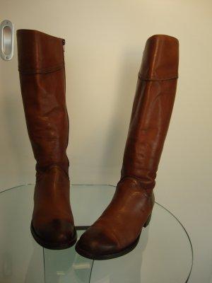 di Lauro Stiefel Gr. 36 Leder braun wenig getragen TOP!!!