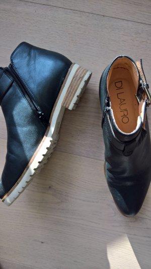 Di Lauro Stiefeletten in schwarz mit heller Sohle Gr. 40