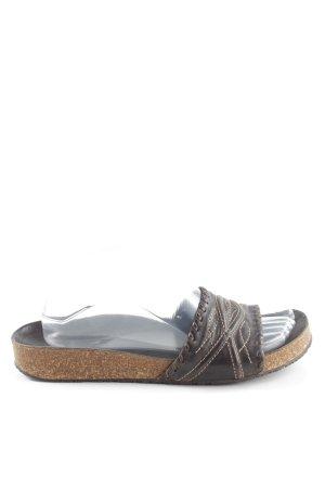 Di Piu Komfort-Sandalen braun-schwarz Casual-Look