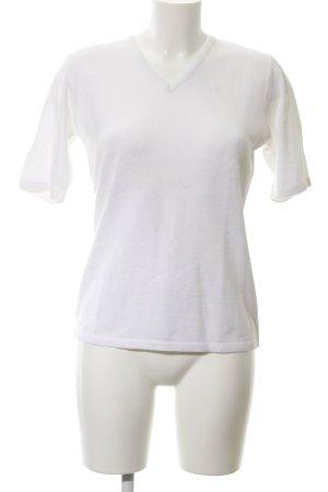 Di Piu Camisa tejida blanco look casual