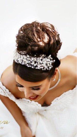 Annabelle Cerchietto per capelli argento-bianco