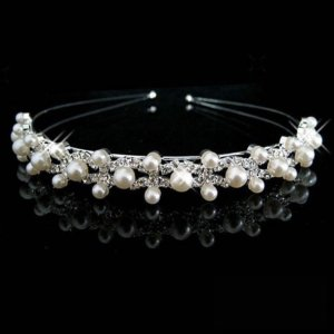 Hair Circlet silver-colored-white