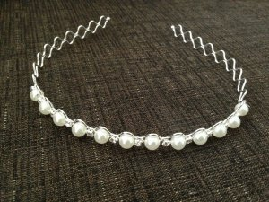 Hair Circlet white-silver-colored