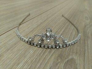 Headdress silver-colored real silver