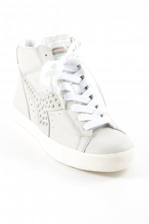Diadora High Top Sneaker hellgrau Casual-Look