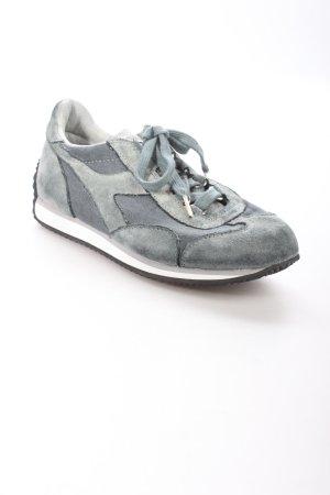 Diadora Schnürsneaker blassblau-graublau Materialmix-Look