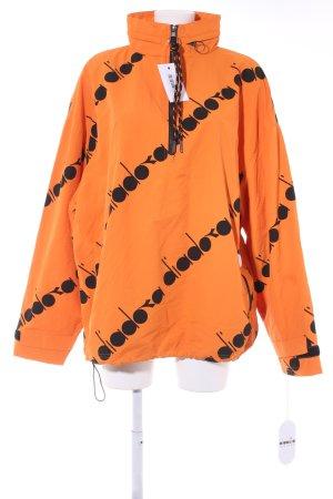 Diadora Windstopper orange-schwarz Schriftzug gedruckt 80ies-Stil