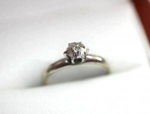 Diamant 333 Weißgold Ring gold goldring 8k