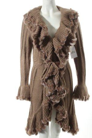 Diamant Knitted Coat multicolored mixture fibre