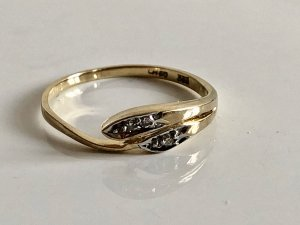 Diamant Brillant 333 Gold Ring goldring Vintage