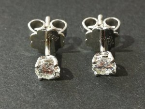 Diamant/Brillant Ohrringe/Ohrstecker TW/VVSI ca.0,44ct 585/-WG