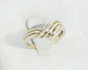 Vintage Anello d'oro oro-bianco Oro