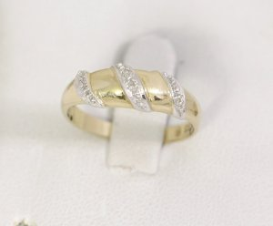 Vintage Anello d'oro oro-grigio chiaro Oro