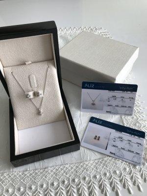 Diamant Kette und Ohrring