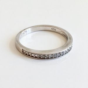 Diamant Memory Ring 925 Sterling Silber Diamanten 0,11 ct Brillanten Brillantring