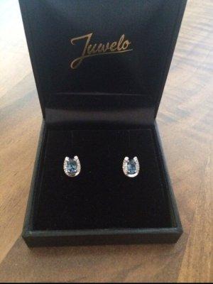 Diamant Ohrringe mit Topase