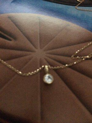 Diamanten Anhänger von CHRIST 750 K  Gelbgold