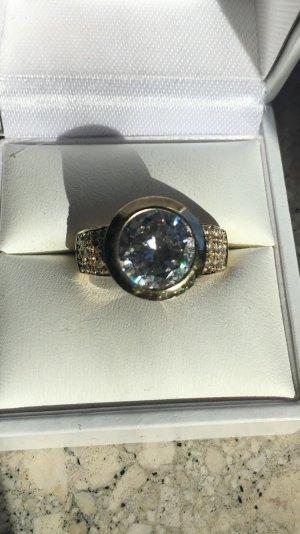 Diamanten wie echt XXL Statement Ring