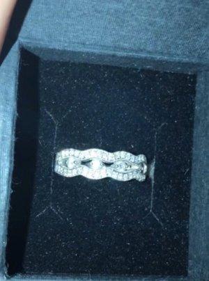 Diamantenring 18k Weißgold mit Zertifikat
