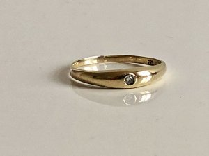 Diamantring 333 Gold Ring Brillant solitär Goldring Juwelierstück