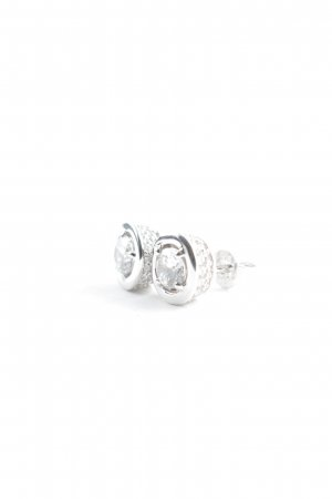 diamonfire Clou d'oreille argenté style d'affaires