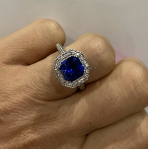 Diamonfire Ring blau