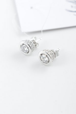 diamonfire Pendientes de plata color plata elegante