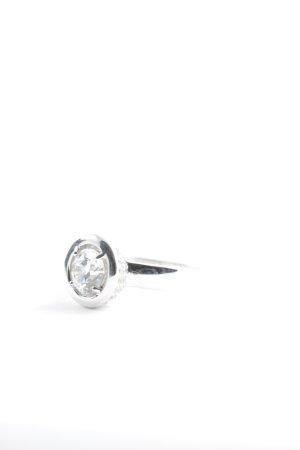 diamonfire Anillo de plata color plata estilo clásico