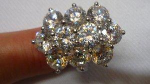 Anello d'argento argento-bianco Metallo