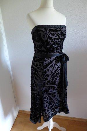 Diane von Fürstenberg Abend Kleid Abiball Seide Samt schwarz nude rose Gr. 36 (4) w
