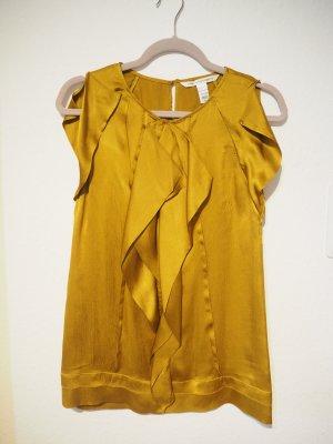 Diane von Furstenberg Top de seda color oro-ocre Seda