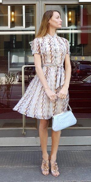 Diane von Fürstenberg furstenberg Seidenkleid Luxus Designer midi sommer Hemdkleid 'Nima'