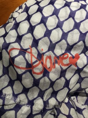 Diane von Furstenberg Cashmere Scarf blue violet-natural white