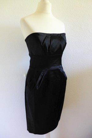 Diane von Fürstenberg Kleid Party Abendkleid trägerlos kurz Satin Gr. 36 S neu