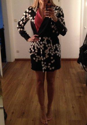 Diane von Fürstenberg Kleid Seide 38 schwarz weiss Corall