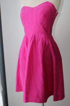 Diane von Fürstenberg Kleid Sommer Party 100% Seide pink trägerlos Bandeaukleid Gr. 32/34