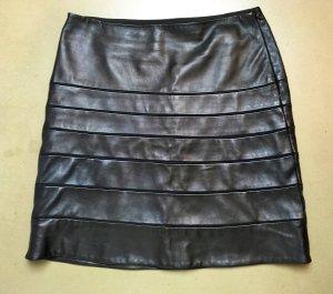Diane von Furstenberg Leather Skirt black leather