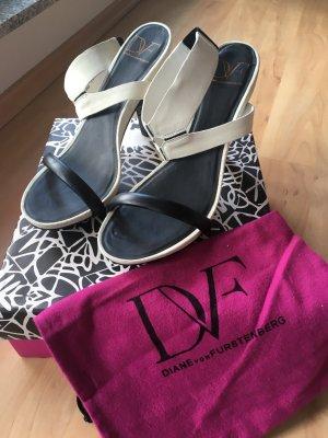 Diane von Furstenberg High Heel Sandal white-black